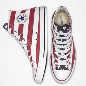 American Flag Converse size woman's 7